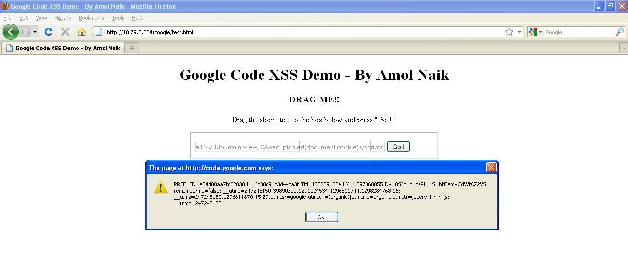 Exploitation of Self-Only Cross-Site Scripting in Google